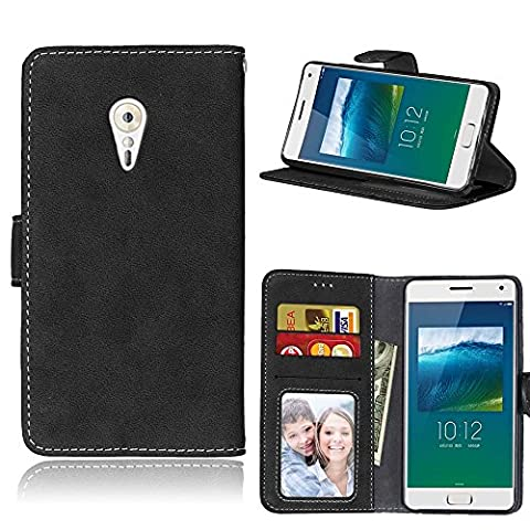 Lenovo Zuk Z2 Pro (5,2 Zoll) Case,BONROY® Lenovo Zuk Z2 Pro (5,2 Zoll) Retro Matte Leather PU Phone Holster Case, Flip Folio Book Case, Wallet Cover with Stand Function, Card Slots Money Pouch Protective Leather Wallet Case for Lenovo Zuk Z2 Pro (5,2