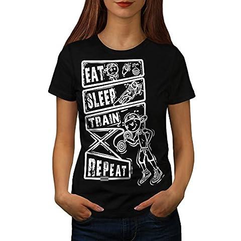 Manger Dormir Train Sport Femme L T-shirt | Wellcoda