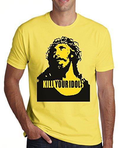 Kill Your Idols Jesus Design Men's T-Shirt XX-Large