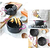 FIXD [1A27 Hogar Wok/Olla de Cocina, sartén, freidora de Acero Inoxidable para el hogar, Cocina Olla de Cocina Calibre 20cm