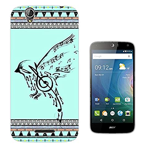067 - Vintage Aztec Drawing Bird Music Notes Love And Peace Design Acer Liquid Z630 Z630S Fashion Trend Protecteur Coque Gel Rubber Silicone protection Case Coque