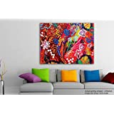 Tamatina Modern Art Canvas Painting - Down Goes The Rabbit - Paintings For Home - Paintings For Living Room - Paintings For Bedroom - Paintings For Drawing Room - Large Wall Painting For Living Room
