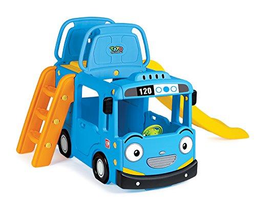 EastSun Kids Bus Indoor Climb and Slide Playhouse