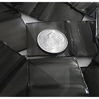 "200 – 1"" x 1"" negro 2 mil plástico Ziplock Baggies"