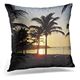 GTBU Throw Pillow Cover Mexican Riviera Maya Cancun Mexico Caribbean Vacation Decorative Pillow Case Home Decor Square 18x18 Inches Pillowcase
