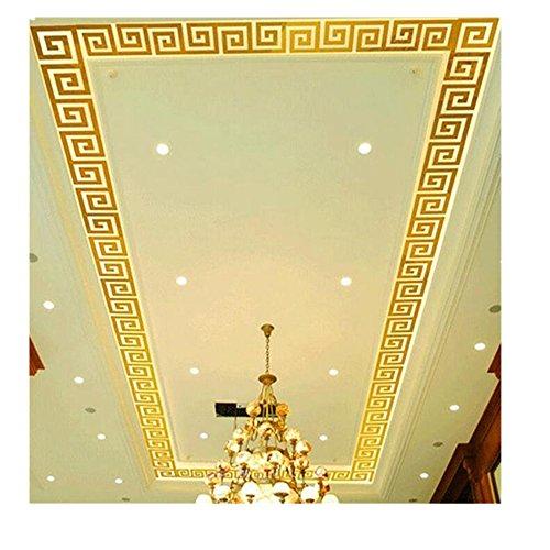 Tefamore 10pcs Pegatina de pared Dormitorio plástico del Ar-pasillo de la etiqueta engomada del espejo de DIY moderno (Oro)