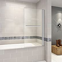 H2H-11 110x140cm Duschabtrennung Badewannen Faltwand Aufsatz Badewannenaufsatz Duschwand