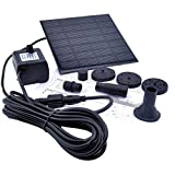 niceEshop 1.2 Watt Solar Power Water Pump Garden Fountain Submersible Pump (Black)