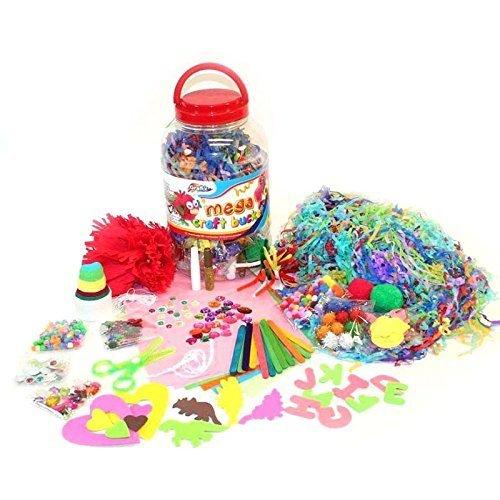 Kinder Kinder Mega Craft Dose riesig Kunst Set Bommel Perlen Papier Schaum buchstaben
