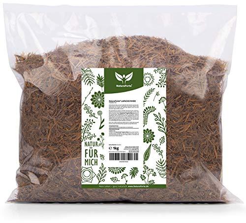 NaturaForte Lapacho Rinden-Tee 1kg - Baumrinden-Tee, Reine innere rote Rinde, Premiumqualität aus Brasilien, Angenehm milder Geschmack, Ganz ohne Zusätze aus kontrolliertem Anbau