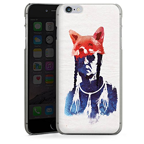 Apple iPhone X Silikon Hülle Case Schutzhülle Fuchs Bunt Art Hard Case anthrazit-klar