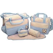 Bolsa de cambio de bebé de 5 piezas - Varios colores( azul)