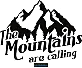 CLICKANDPRINT Aufkleber » The mountains are calling, 30x23,2cm, Schwarz • Dekoaufkleber / Autoaufkleber / Sticker / Decal / Vinyl