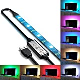 autai USB Leistung RGB Light für TV Backlight IP65 Wasserdicht mit Mini Controller Online (Kabel + 200 cm LED Strip 90 cm USB + Online mini-contrôleur)