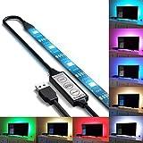 autai USB Leistung RGB Light für TV Backlight IP65Wasserdicht mit Mini Controller Online (Kabel + 200cm LED Strip 90cm USB + Online mini-contrôleur)