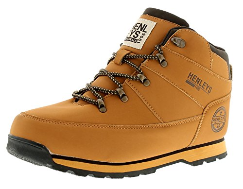 New Mens/Gents Tan Henleys Oakland Lace Ups Fashion Boots - Tan -...