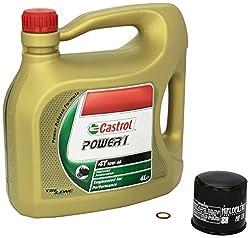 Castrol Power1 (10W-40) Ölwechsel-Set Suzuki Intruder M 1800 R (VZR 1800 R), Bj. 06-13 - Motoröl, HiFlo Ölfilter und Dichtring