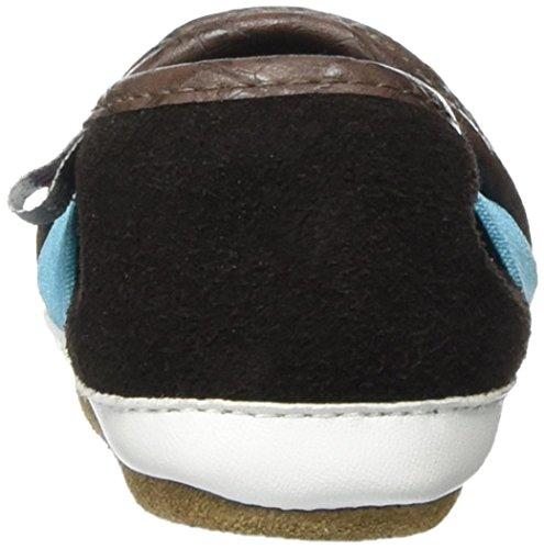 Melton Krabbelschuh Slipper - Kroko, Chaussons pour bébé bébé garçon Marron - Braun (Chestnut 481)