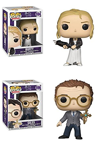 Funko POP Buffy The Vampire Slayer 20th Anniversary Buffy Giles Vinyl Figure Set NEW