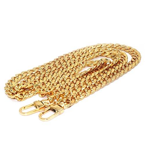 Oulii Kette für DIY-Handtasche, Ersatzriemen mit Schnallen (Gold) - Schnalle Handtasche Tasche