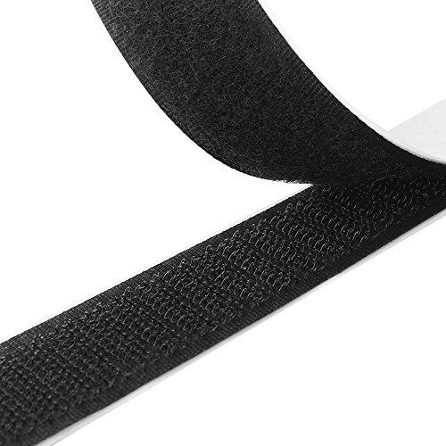 Klettband selbstklebend in Schwarz mit 1 Meter Länge und 20 mm Breite von TRIXES