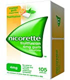 Nicorette 4 mg Fruitfusion Gum - Pack of 105