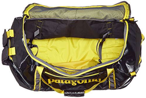 Patagonia Unisex Black Hole Duffel 90l Rucksack Forge Grey w/Chromatic Yellow