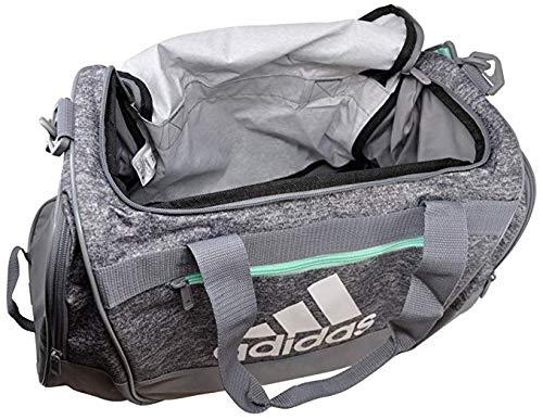 adidas DEFENDER III Duffel Bag, Onix Jersey/Grey/Easy Green/White, Medium