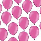 50 Luftballons - 23 cm - Pastell leuchtendes Pink/Rosa Hot Pink - Formstabil - Kleenes Traumhandel®