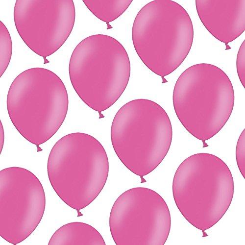 cm - Pastell leuchtendes Pink/Rosa Hot Pink - Formstabil - Kleenes Traumhandel® (Um Baloons)