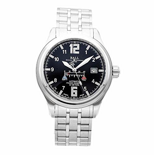 Ball Men's Watch Trainmaster Power Reserve Glow Automatic Watch NM1056D-SAJ-BK