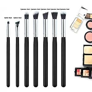 Oshide 7Pcs Professionel Pinceaux Maquillage Eye Set Eyebrow Eyeliner Eyeshadow Foundation Blending Brush Blusher Tools Kit