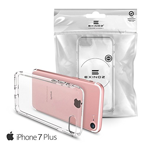 EXINOZ® iPhone 7 / 7 Plus Crystal Gel Case | High-quality Protection with 1-Year Replacement Warranty I Get the Best for Your iPhone 7 / 7 Plus (iPhone 7 Plus)