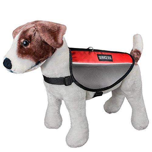 AGPtek Reflektorweste für Hunde, Hunde-Warnweste Service Safety Vest Cool Mesh Hundegeschirr mit 2 Patchs reflektierende SERVICE DOG. 3 Größen für Kleiner Mittlerer Großer Hund (bitte messen Sie Ihren Hund vor (Katze Kostüm Im Flash)