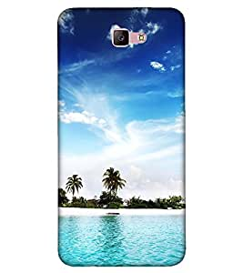 Takkloo beautiful view of ocean small island,trees in island, blue water, blue sky, nice view of sea) Printed Designer Back Case Cover for Samsung Galaxy A7 (2017) :: Samsung Galaxy A7-2017