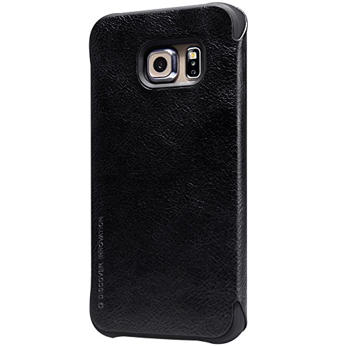 NILLKIN Qin Series Elegant Leather Shell Flip Cover for Samsung Galaxy S6 edge – Black