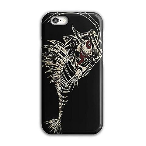 schaurig Fisch Wild Tier Knochen Fang iPhone 6 / 6S Hülle | Wellcoda (Leopard Knochen)