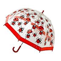 Bugzz Pvc Clear Ladybug Umbrella - Red