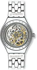 Idea Regalo - Swatch Orologio da Uomo Analogico al Quarzo con Cinturino in Acciaio Inox - YAS100G