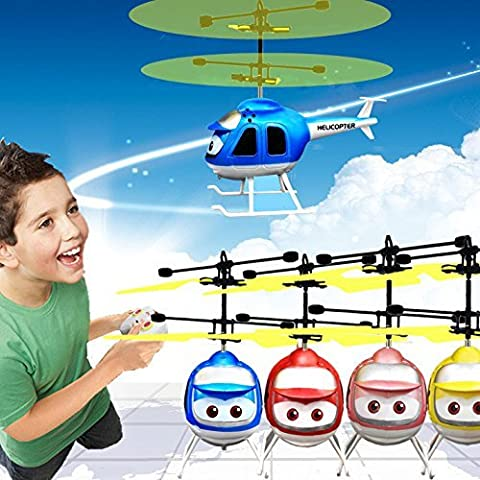 szzrlc Hand Induction Aircraft Toy Remote Control RC Sensing Helicopter Christmas Toy