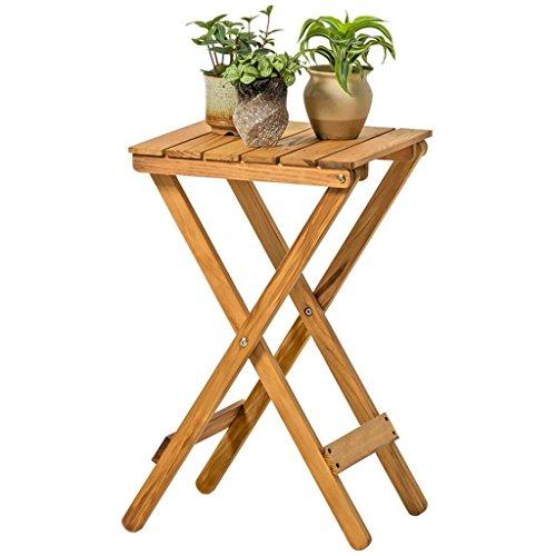 SED Indoor und Outdoor Dekorative Regal Wohnzimmer Pflanze Platzsparende Blume Topflappen Multifunktionale Holz Blume Stehen Klapptisch Couchtisch Outdoor Kleine Tabelle,Retro Farbe -