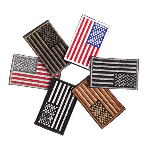 1x Rojo&Azul Hilo bordado bandera americana patriótica