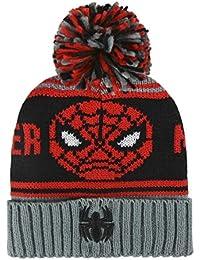 Spiderman 2200-2487 Beanie Mütze, Pompon, Bommel, Winter Acryl, Eine Größe, Mehrfarbig