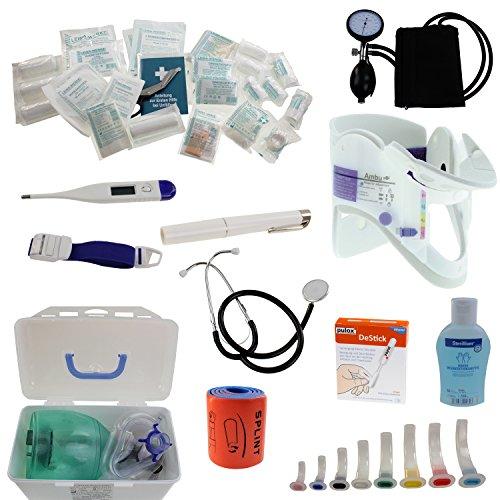 Pulox Erste Hilfe Rucksack, Notfallrucksack mit Modultaschen für den Notfall Einsatz Sport Freizeit Event Fussball (Inhalt ohne Rucksack) (Badartikel)