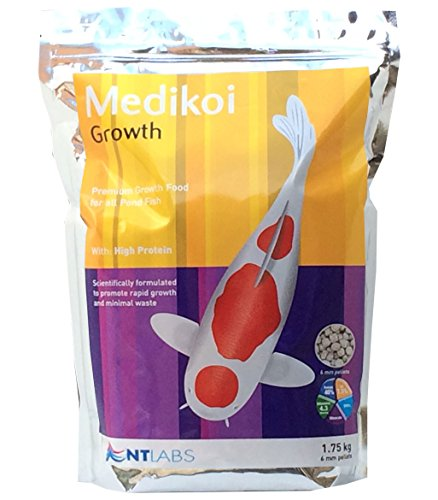 Bassin et koï Granulés de nourriture Medikoi Croissance Sac à 6 mm 1.75 kg NT Labs Nourriture complète