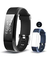 Monitor de Fitness Muzili YG3 Plus Pulsera Actividad Reloj Medidor Deportivo Inteligente Podómetro con monitor de ritmo cardíaco / GPS / Contador de pasos / Control del sueño para Android e iOS