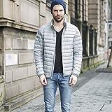 GK-Court paragraphe Down jacket hommes et femmes cols bleus?gray?XL