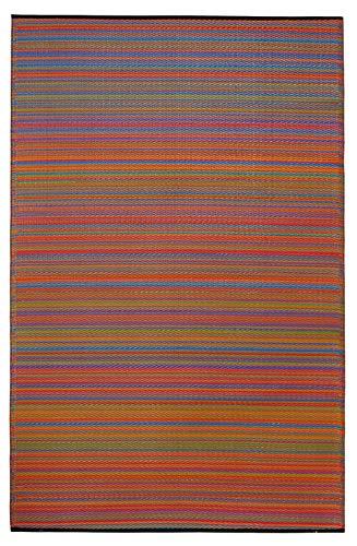 Fab Hab - Cancun - Multifarben - Teppich/ Matte für den Innen- und Außenbereich (240 cm x 300 cm) - Saubere Jute-teppich