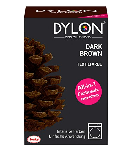 DYLON Textilfarbe, Dark Brown, 1er Pack (1 x 1 ()