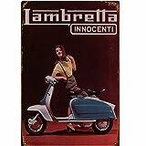 A.G.S. Retro Blechschild Lambretta Innocenti Motorroller Nostalgie Metallschild Italien